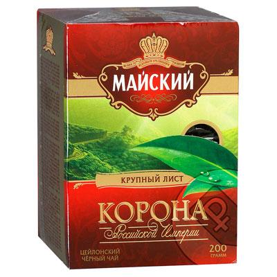 Чай черный Майский Корона Российской Империи 200 гр фото