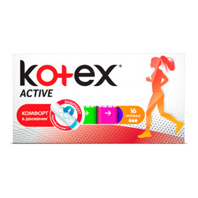 Тампоны Kotex Active normal 3 капли 16 шт фото