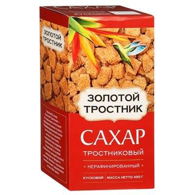 Сахар кусковой Золотой Тростник тростниковый нерафинированный 450гр