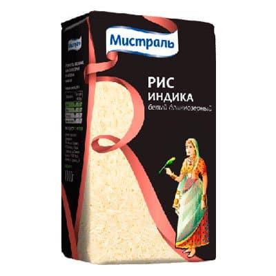 Рис Мистраль Индика белый длиннозерный 1 кг