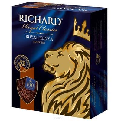 Чай Richard черный Королевская Кения 100 пак фото