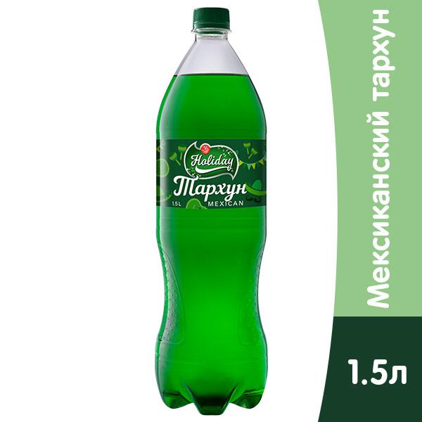 Напиток Holiday Тархун 1.5 литра, газ, пэт, 6 шт. в уп. фото