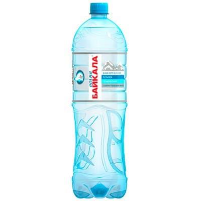 Вода Волна Байкала 1.5 литра, газ, пэт, 6шт. в уп.