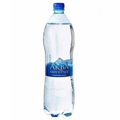 Вода Аква Минерале 1.25 литра, газ, пэт, 12шт. в уп.