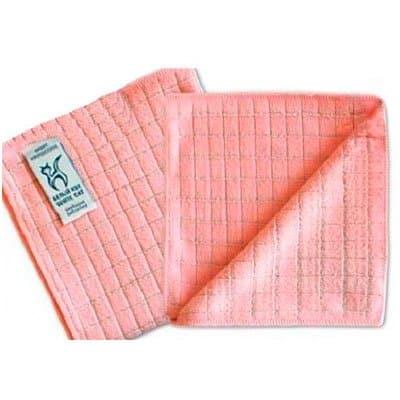 Салфетка БЕЛЫЙ КОТ с ионами серебра 32x31 розовая