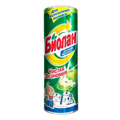 Чистящий порошок Биолан Чистая экономия Яблоко 400 гр фото
