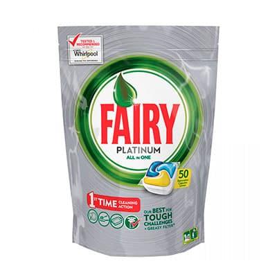 Средство для посудомоечных машин Fairy Platinum Original All In One 50 капсул