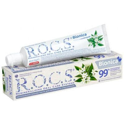 Зубная паста R.O.C.S Bionica отбеливающая 74 гр фото