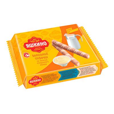 Вафельные трубочки Яшкино со вкусом сгущенного молока 190 гр