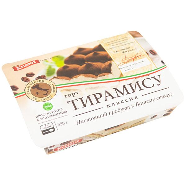 Торт Kristof Тирамису классический замороженный 450 гр