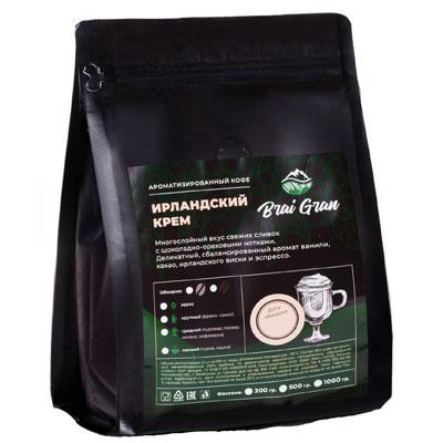 Кофе Brai Gran Ирландский крем зерно в/у 200 гр фото