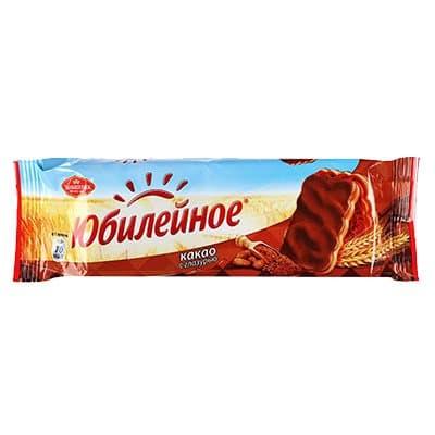 """Печенье """"Юбилейное"""" какао с глазурью 116г (1шт)"""