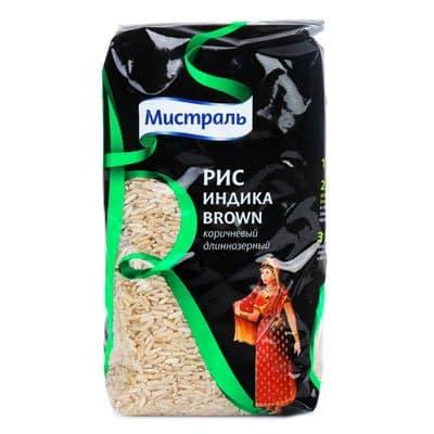 Рис коричневый Индика 1 кг.