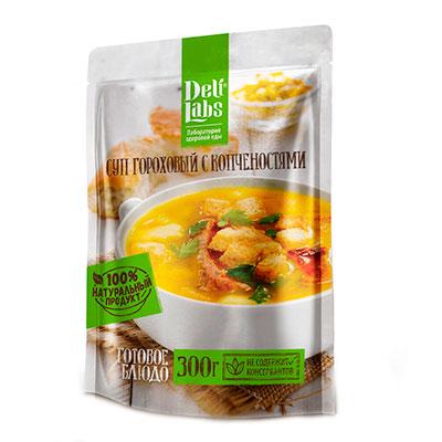 Суп гороховый с копченостями DeliLabs 300 гр