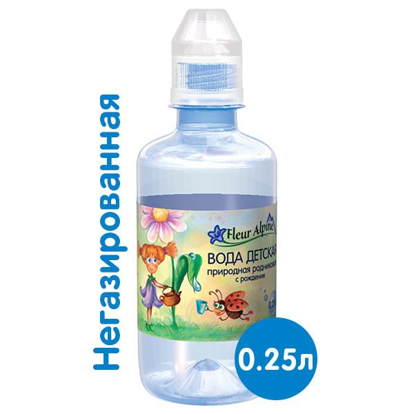 Вода Fleur Alpine 0,25 литра, без газа, пэт, 12 шт. в уп. фото