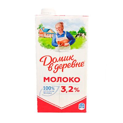 Молоко Домик в деревне 3,2% БЗМЖ 950 гр, 12 шт. в уп.