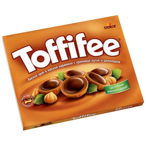 Конфеты Toffifeе лесной орех в мягкой карамели с кремовой нугой и шоколадом 250 гр