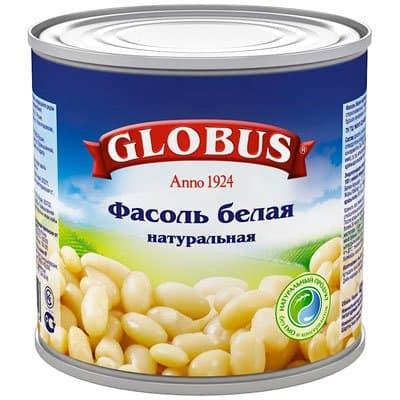 Фасоль белая Globus 400гр (2шт)