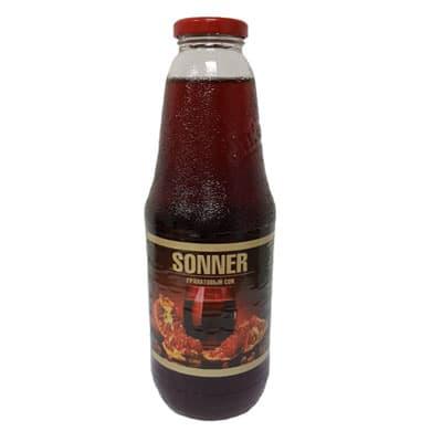 Сок Sonner / Соннер гранат стекло 1 литр (8 шт)