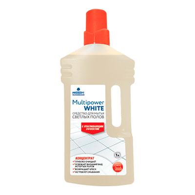 Средство для мытья светлых полов Prosept Multipower White с отбеливающим эффектом концентрат 1 литр фото