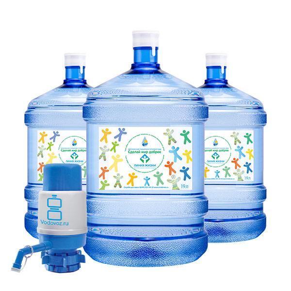 2 бутыли Сделай Мир Добрее 19 литров + бутыль и помпа фото