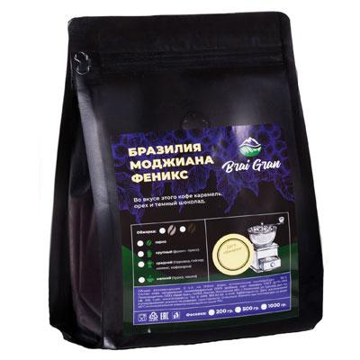 Кофе Brai Gran Моджиана Феникс зерно в/у 200 гр фото