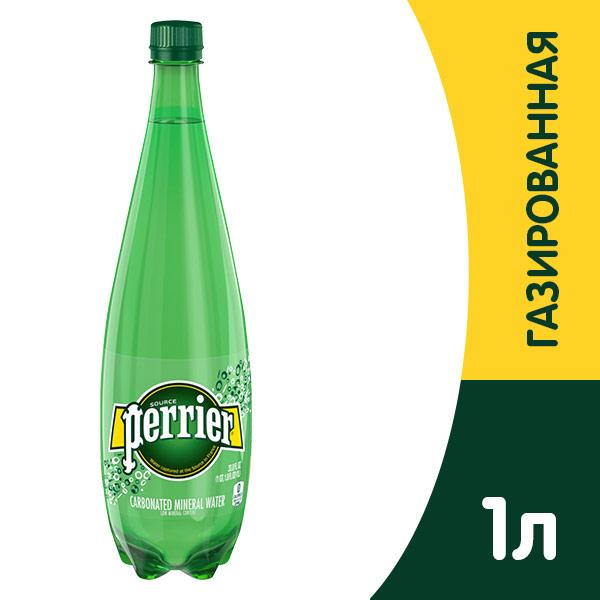 Вода Perrier / Перье 1 литр, газ, пэт, 6 шт. в уп. фото
