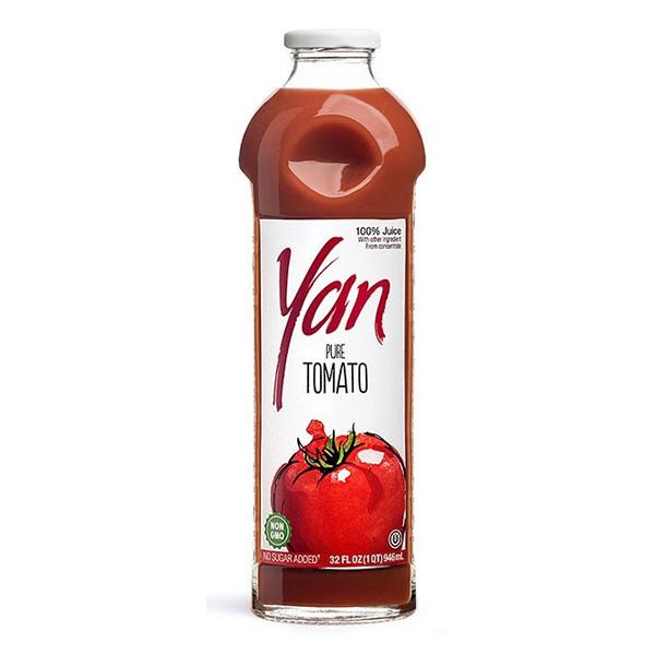 Сок YAN томатный 0.93 литра стекло 6 шт. в уп..