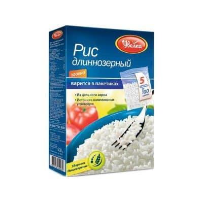Рис Увелка длиннозерный 5*100г (2шт.)