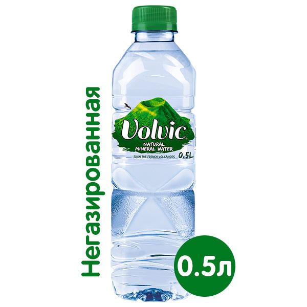 Вода Volvic 0.5 литра, без газа, пэт, 24 шт. в уп.