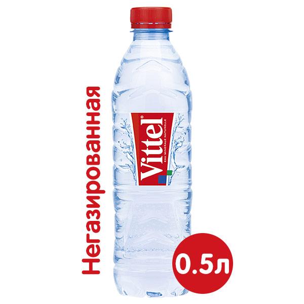 Вода Vittel 0.5 литра, без газа, пэт, 24 шт. в уп. фото