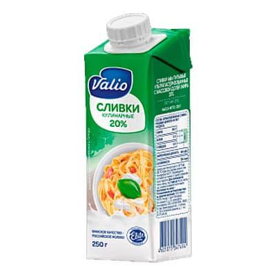 Сливки Valio кулинарные 20% 250 мл