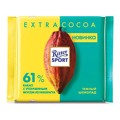 Шоколад Ritter Sport 61% какао из Никарагуа 100 гр