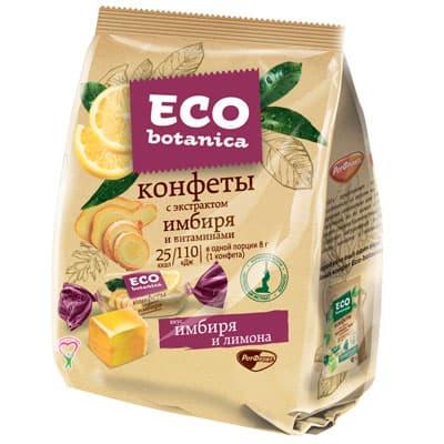 Конфеты желейные Eco Botanica с экстрактом имбиря 200 гр фото