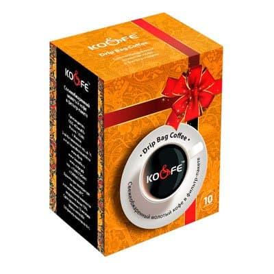 Drip Bag Coffee Бразилия сантос в подарочной упаковке молотый в фильтр-пакете 1уп. (10шт.)