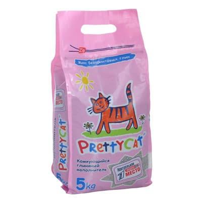 Наполнитель для кошачьих туалетов PrettyCat комкующийся Euro Mix 5 кг фото