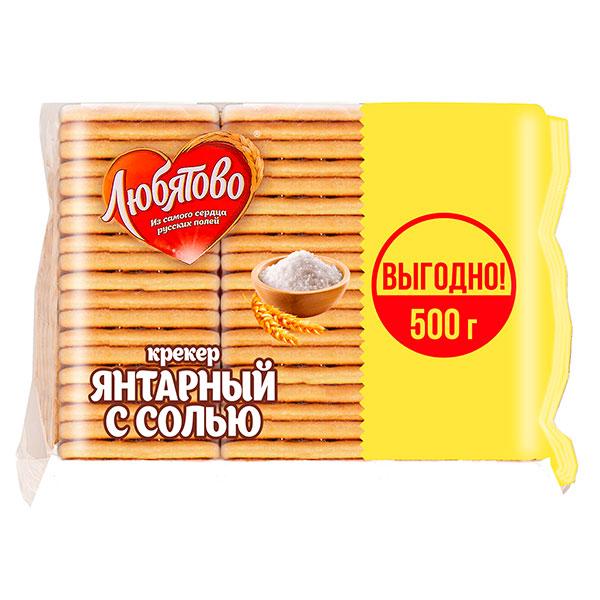 Крекер Любятово Янтарный с солью 500 гр