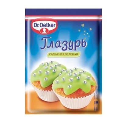 Глазурь DR.OETKER сахарная зеленая 100 гр