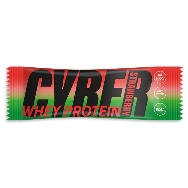 Батончик протеиновый Cyber Whey Protein Клубника 30 гр