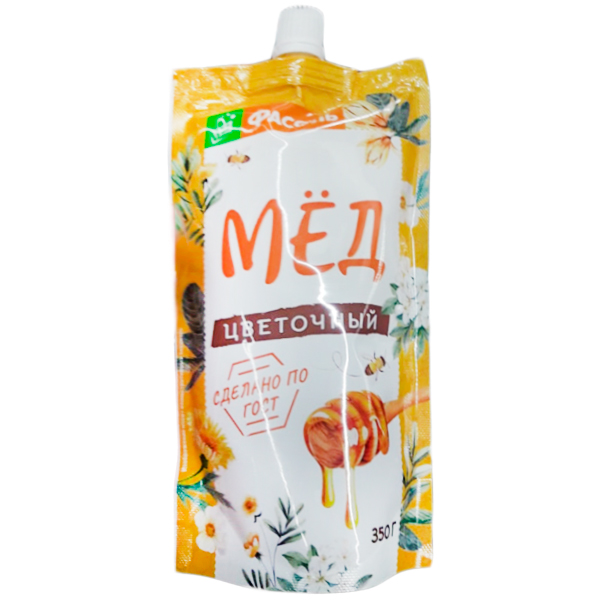 Мёд Фасоль цветочный дой-пак 350 гр
