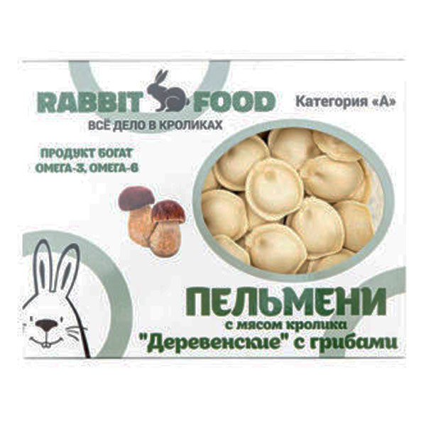 Пельмени с мясом кролика и грибами Rabbit food Деревенские замороженные 500 гр