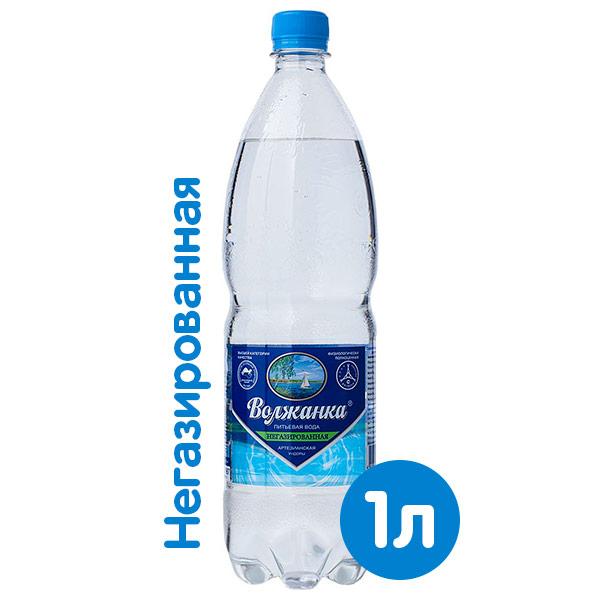 Вода Волжанка 1 литр, без газа, пэт, 12 шт. в уп. фото