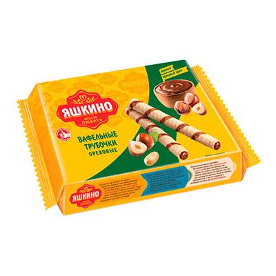 Вафельные трубочки Яшкино ореховые 190 гр