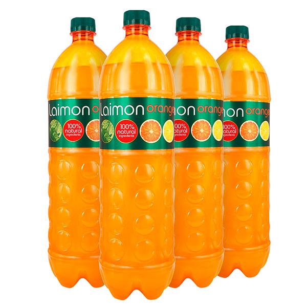 Напиток Laimon Fresh Orange 1.5 литра, газ, пэт, 6 шт. в уп.