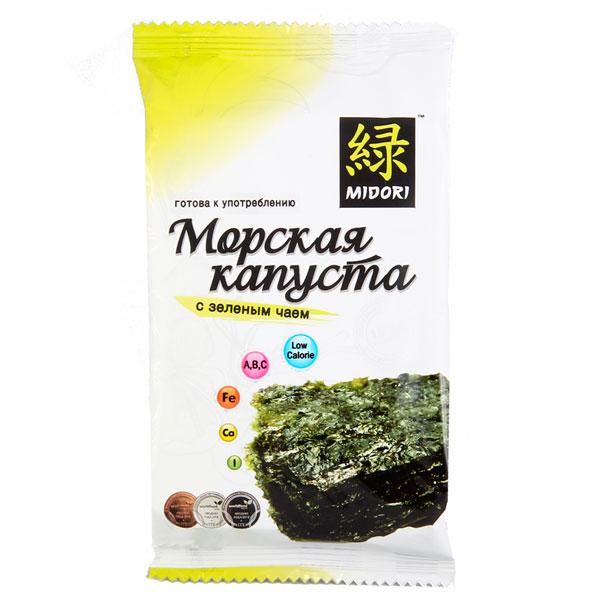 Морская капуста Midori с зеленым чаем