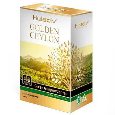 Heladiv golden ceylon green Gunpowder 100 гр