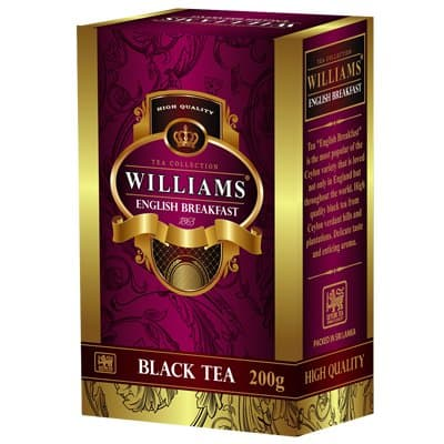 Чай черный Williams English Breakfast (200гр)