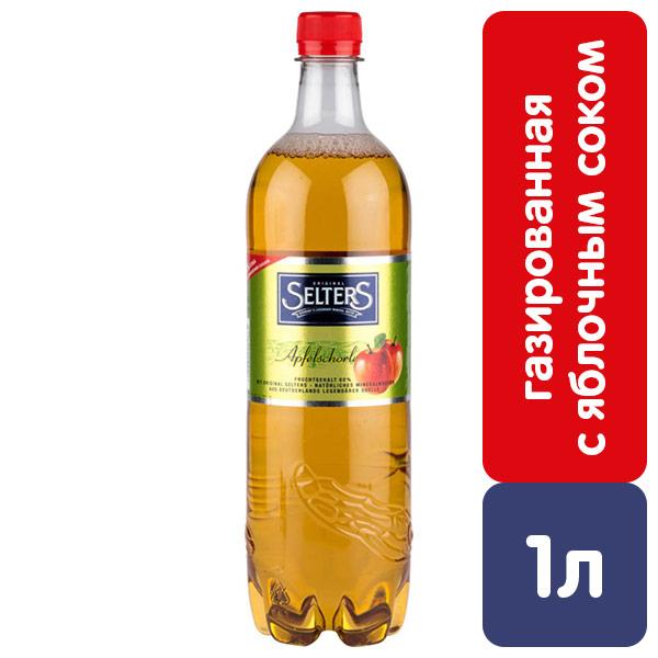 Вода Selters с яблочным соком 1 литр, газ, пэт, 6 шт. в уп. фото