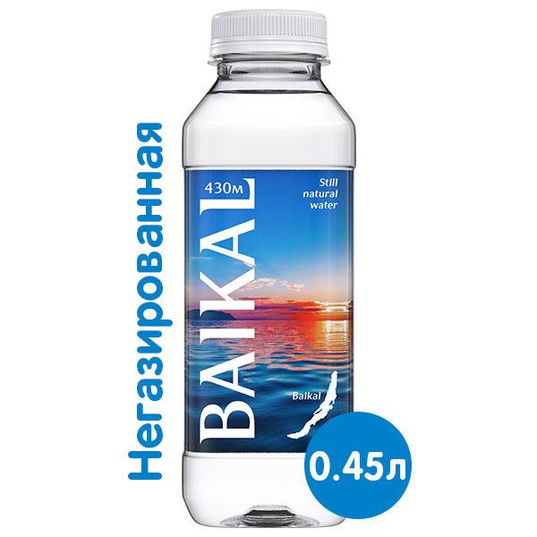 Глубинная байкальская вода Baikal430 0.45 литра, без газа, пэт, 12 шт. в уп.