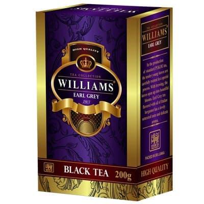Чай черный Williams Earl Grey с ароматом бергамота (200гр)